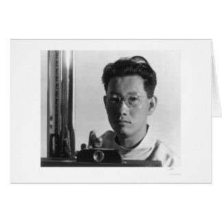 Michael Yonemitsu, técnico 1943 de la radiografía Tarjetas
