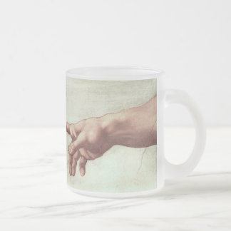 Michaelangelo's Sistine Chapel Ceiling (detail) Frosted Glass Coffee Mug