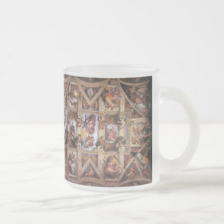 Michaelangelo's Sistine Chapel Ceiling Frosted Glass Coffee Mug