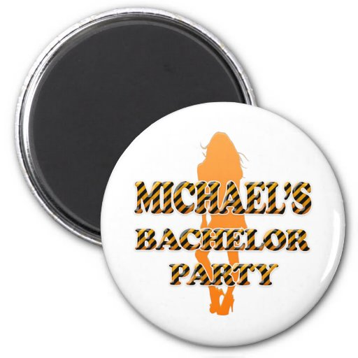 Michael's Bachelor Party Refrigerator Magnet