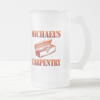 Michael's Carpentry Frosted Glass Beer Mug