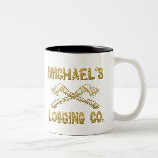 Michael's Logging Company Two-Tone Coffee Mug