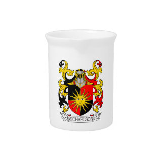 Michaelson Coat of Arms (Burke's General) Beverage Pitchers