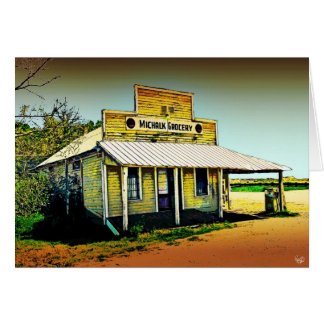 Michalk Store at Moore s Crossing Del Valle TX Greeting Cards