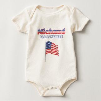 Michaud for Congress Patriotic American Flag Rompers