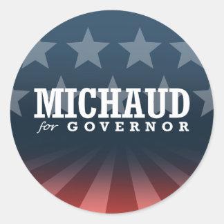 MICHAUD FOR GOVERNOR 2014 CLASSIC ROUND STICKER