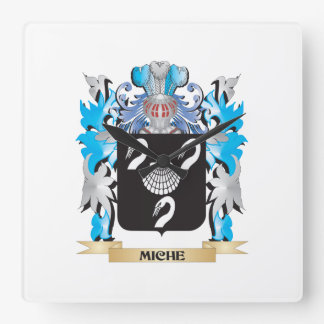 Miche Coat of Arms - Family Crest Square Wallclock