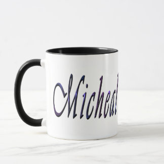 Micheal, Name, Logo, Black Combo Coffee Mug