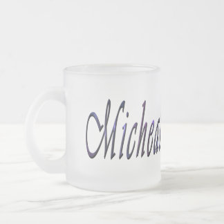 Micheal, Name, Logo, Frosted Beer Mug