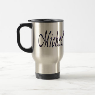 Micheal, Name, Logo, Travel Coffee Mug