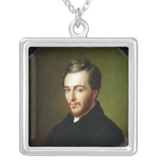 Michel Chevalier Square Pendant Necklace