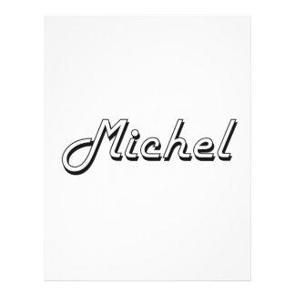 """Michel Classic Retro Name Design 8.5"""" X 11"""" Flyer"""