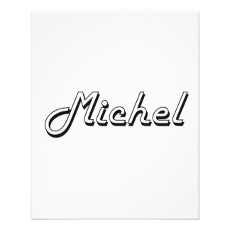 """Michel Classic Retro Name Design 4.5"""" X 5.6"""" Flyer"""