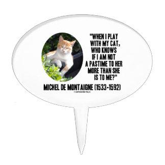 Michel de Montaigne cuando juego con mi cita del g Palillos De Tarta