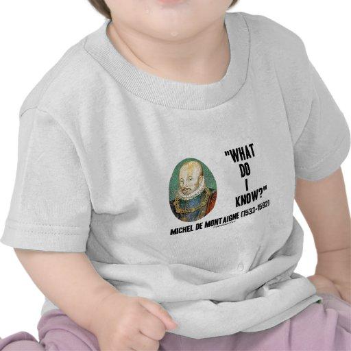 ¿Michel de Montaigne qué yo saben? Cita Camisetas