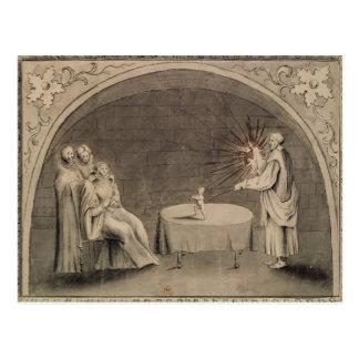 Michel de Nostradame  and Catherine Postcard