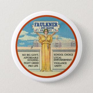 Michel Faulkner for New York City Mayor 2017 Pinback Button
