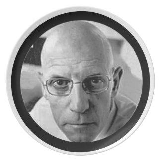 Michel Foucault Melamine Plate
