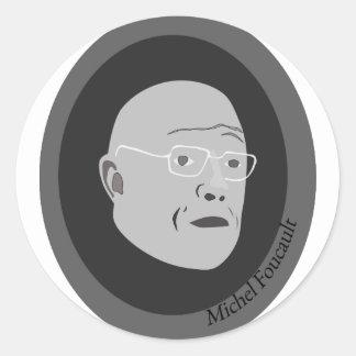 michel-foucault classic round sticker