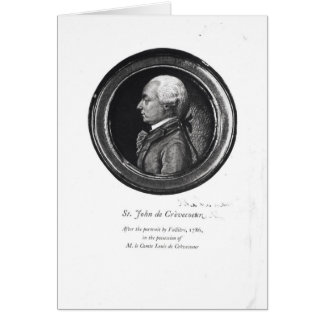 Michel-Guillaume-Jean de Crevecoeur Card