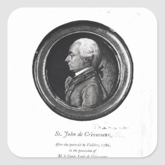 Michel-Guillaume-Jean de Crevecoeur Square Sticker
