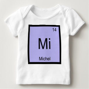 Baby name michelle gifts on zazzle michel name chemistry element periodic table baby t shirt urtaz Images