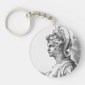 Michelangelo- Allegorical figure Single-Sided Round Acrylic Keychain