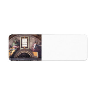 Michelangelo: Ancestors of Christ: David, Solomon Custom Return Address Label