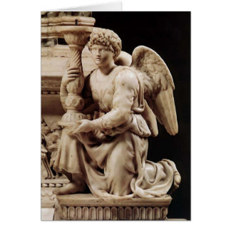 Michelangelo- Angel with Candlestick Greeting Cards