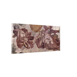 Michelangelo Buonarroti - Creation of Sun Canvas Print