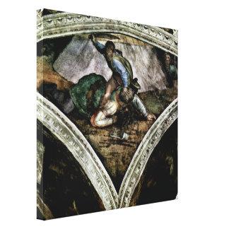 Michelangelo Buonarroti - David and Goliath Canvas Print