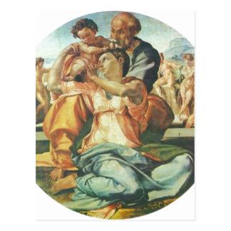 Michelangelo Buonarroti Hl. Familie, Tondo 1504-15 Postcard