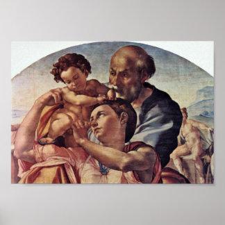 Michelangelo Buonarroti - Holy Family Tondo Print