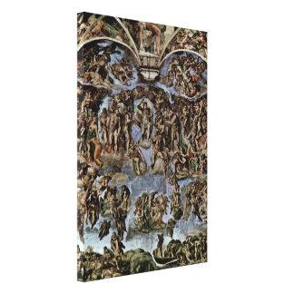 Michelangelo Buonarroti - The Last Judgement Canvas Print