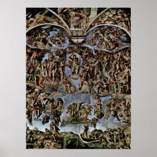 Michelangelo Buonarroti - The Last Judgement Poster