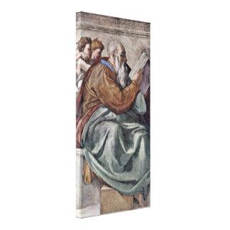 Michelangelo Buonarroti - The Prophet Zechariah Canvas Print