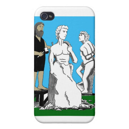 Michelangelo Carving David iPhone 4/4S Covers