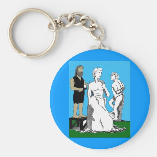 Michelangelo Carving David Key Chains