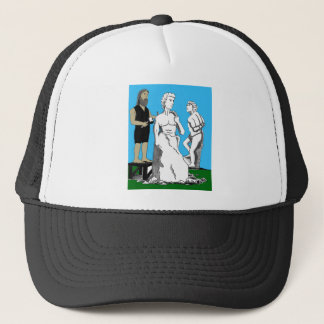 Michelangelo Carving David Trucker Hat