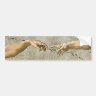 Michelangelo Creation of Adam Bumper Sticker