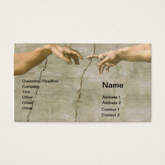 Michelangelo Creation of Adam Business Card