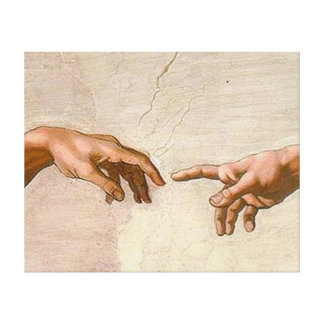 Michelangelo Creation of Adam Gallery Wrapped Canvas