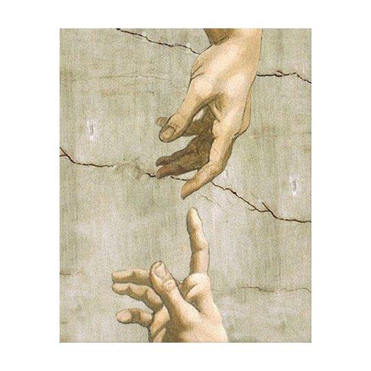 Michelangelo Creation of Adam Canvas Print