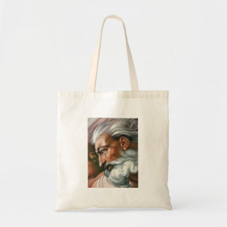 Michelangelo Creation of Adam - God's Face Tote Bag