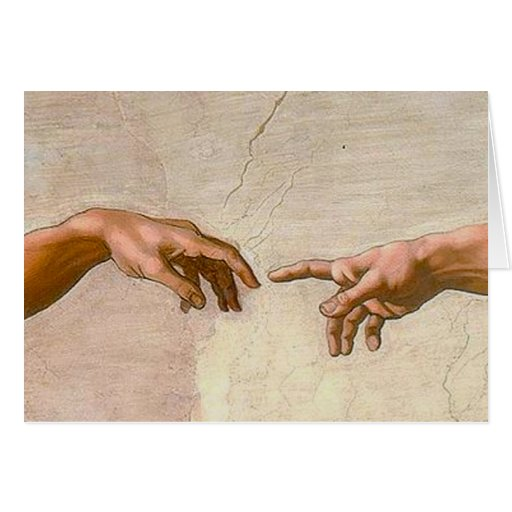 Michelangelo Creation of Adam Greeting Card