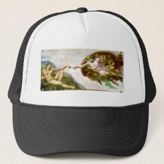 Michelangelo - Creation of Adam Painting Trucker Hat