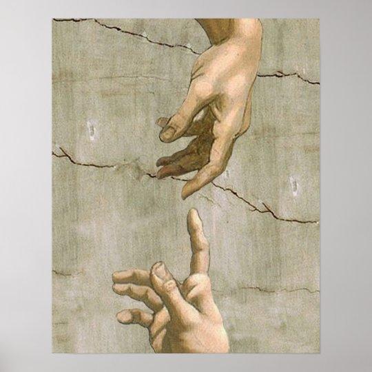 Michelangelo Creation of Adam Poster