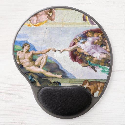 Michelangelo - Creation of Adam, Sistine Chapel's Gel Mouse Pad