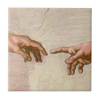Michelangelo Creation of Adam Tile