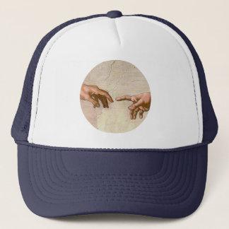 Michelangelo Creation of Adam Trucker Hat